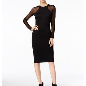 Catherine Malandrino Mesh Sleeve Dress